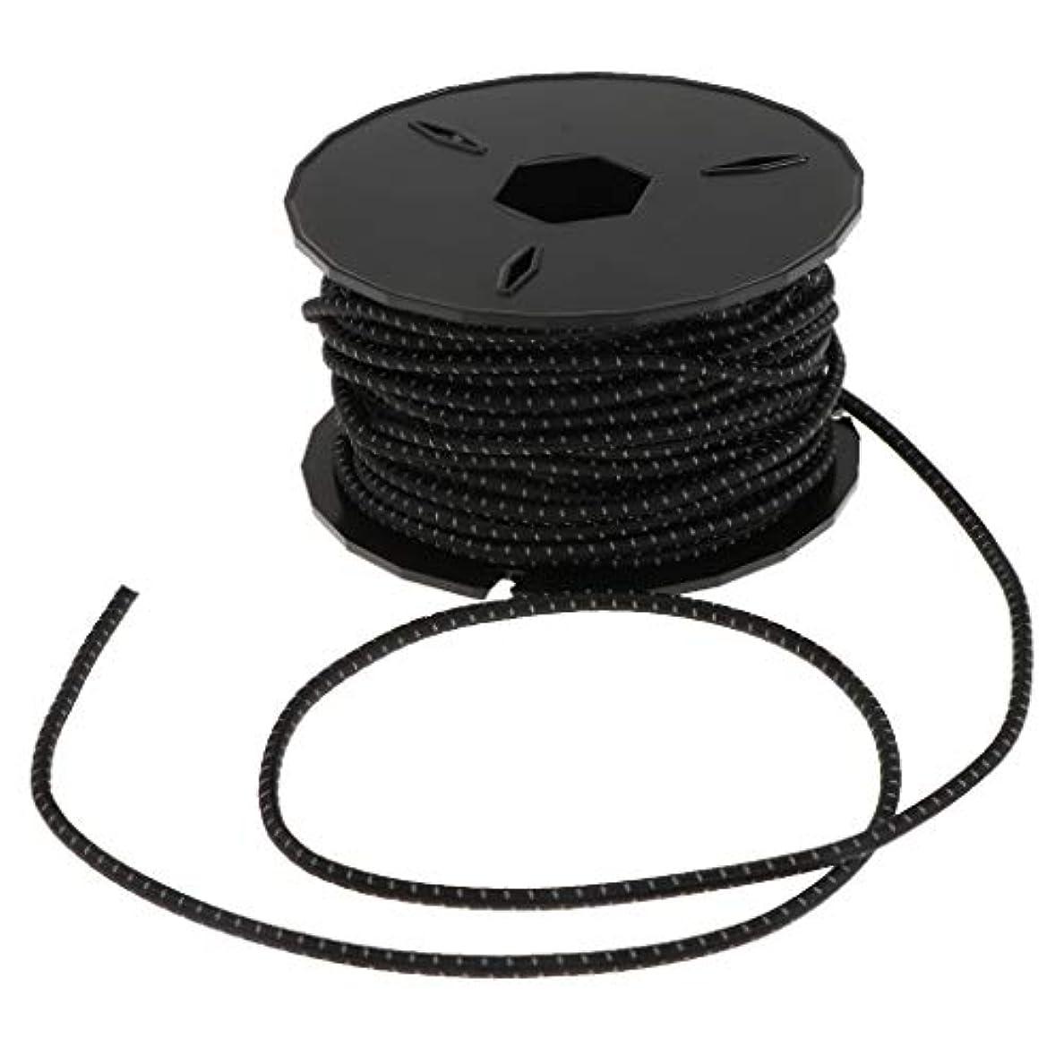 アンティーク乳出発するFLAMEER 3mm ヘビーデューティー ゴムコア ポリエステル 弾性ロープ バンジーロープ ショックコード 全4色