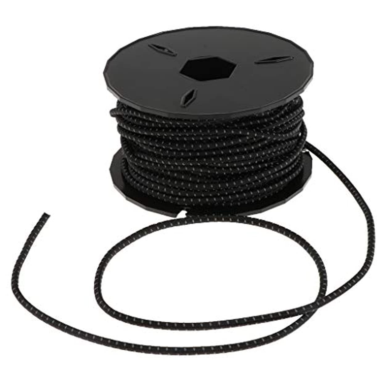 ディレイパスタ産地FLAMEER 3mm ヘビーデューティー ゴムコア ポリエステル 弾性ロープ バンジーロープ ショックコード 全4色