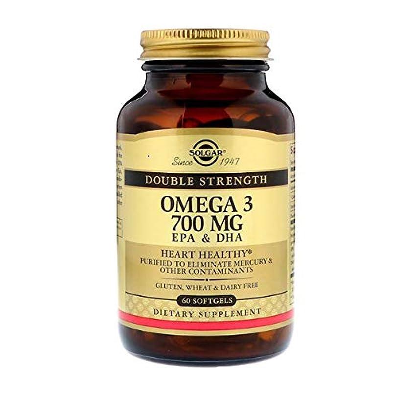 手首粘土回転するSolgar Omega 3 EPA DHA Double Strength 700mg 60 Softgels 【アメリカ直送】