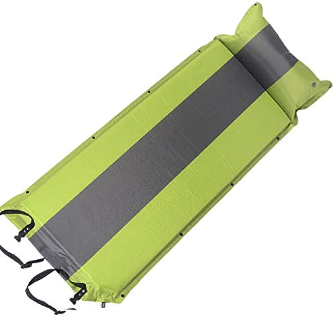 ピービッシュ間違いなく荒れ地Brechton Inflating Sleeping Pad、テント、カップル、家族用に設計された複数のキャンプマットと接続可能な1.2インチの厚いキャンプパッド,Grassgreen+gray,1.2in/3cm