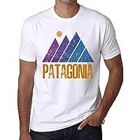 Ultrabasic Men's Graphic T-Shirt Mountain Patagonia White