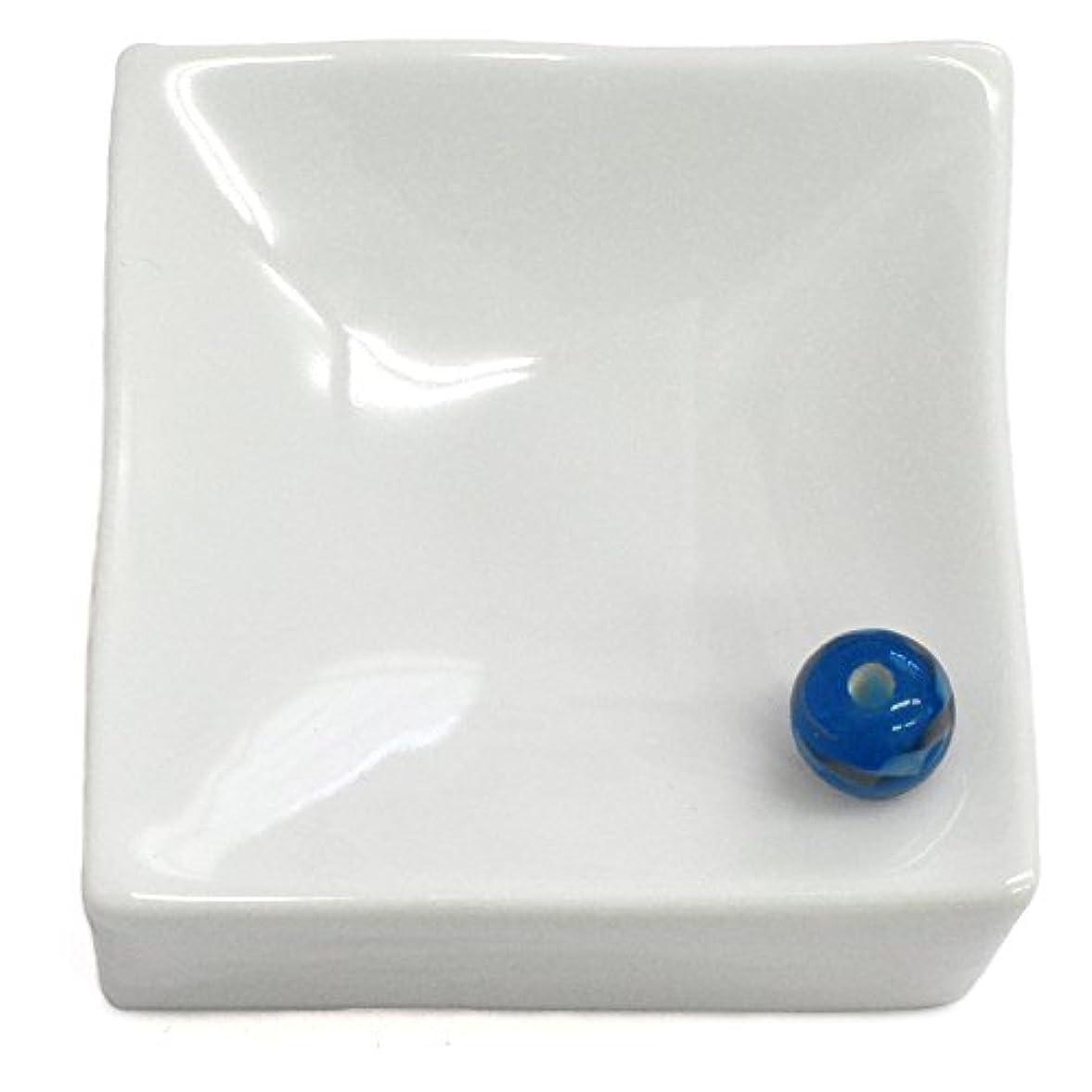形式非難するチャップ悠々庵 白磁四角立体香皿