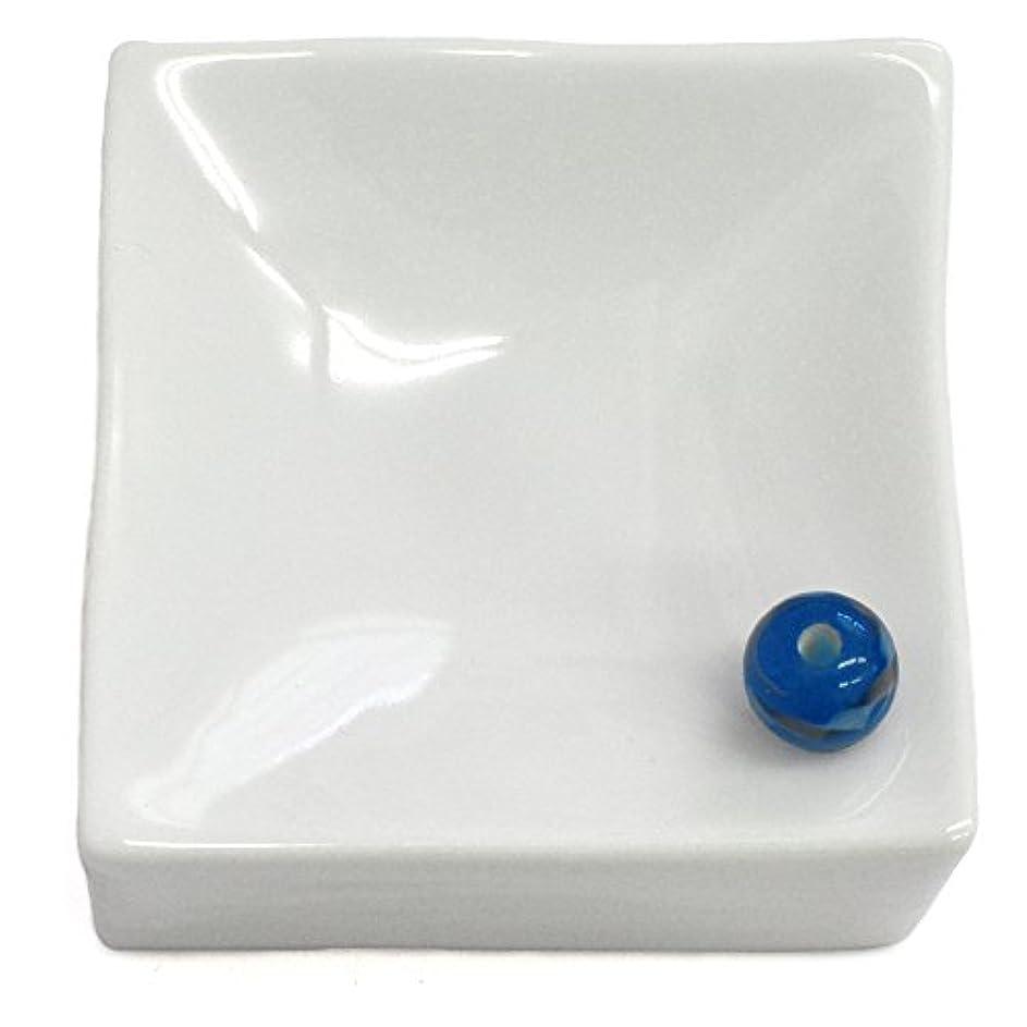 暖炉バッテリーマーチャンダイザー悠々庵 白磁四角立体香皿