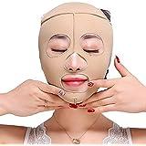 Minmin フェイスリフティングアーティファクト睡眠薄い顔顔の顔薄い顔V顔マスク二重あご薄い顔包帯肌色 みんみんVラインフェイスマスク (Size : S)