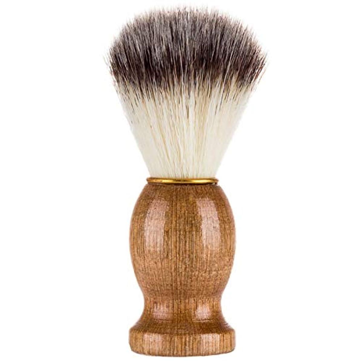 緯度トロリーリネンソフトヘアメイクブラシメンズシェービングブラシ品質剛毛新しいポータブルハイエンドひげブラシ美容ツール