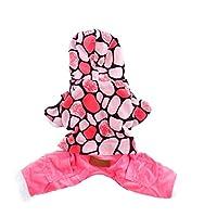 ペットの犬の冬服の綿のフード付きのジャケット暖かい子犬SweaterDouble層の服ピンクの女王