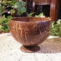 ココナッツの小物入れ 台付き プランター 植木鉢 アジアン雑貨