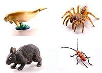 カプセルQミュージアム 日本の動物コレクション2 沖縄奄美/やんばるの森 4種 ジュゴン/オキナワキムラグモ/アマミノクロウサギ/フェリエベニボシカミキリ