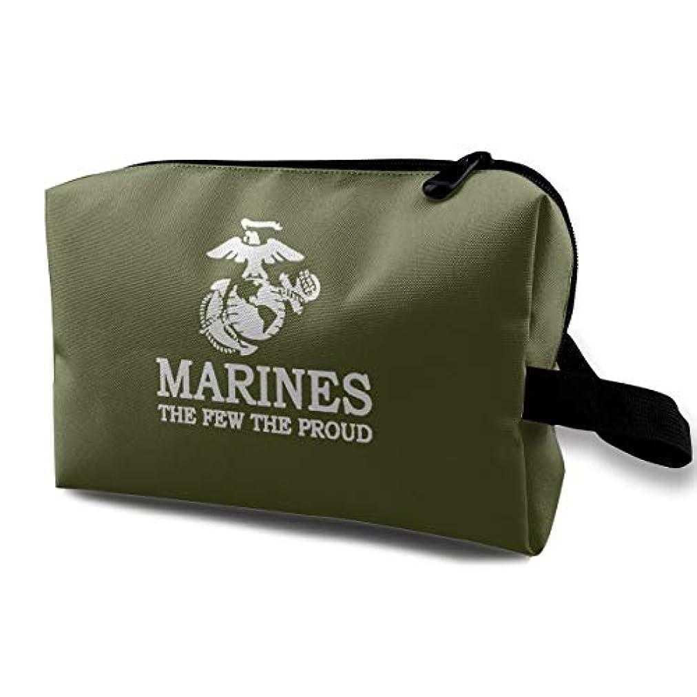 層リズムアボートUSMC Marine Corps Logo USMC The Few The Proud 化粧ポーチ 洗面用具 小物入れ 軽量バッグ レディース 旅行バック ポーチ 収納袋 大容量 機能的 化粧袋化粧ポーチ アルティザンアーティスト 洗面用具コンパクト メンズ 収納バッグ