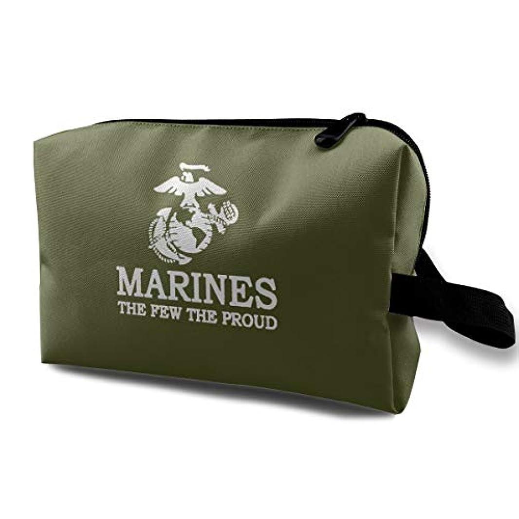 教えて快適特殊USMC Marine Corps Logo USMC The Few The Proud 化粧ポーチ 洗面用具 小物入れ 軽量バッグ レディース 旅行バック ポーチ 収納袋 大容量 機能的 化粧袋化粧ポーチ アルティザンアーティスト 洗面用具コンパクト メンズ 収納バッグ