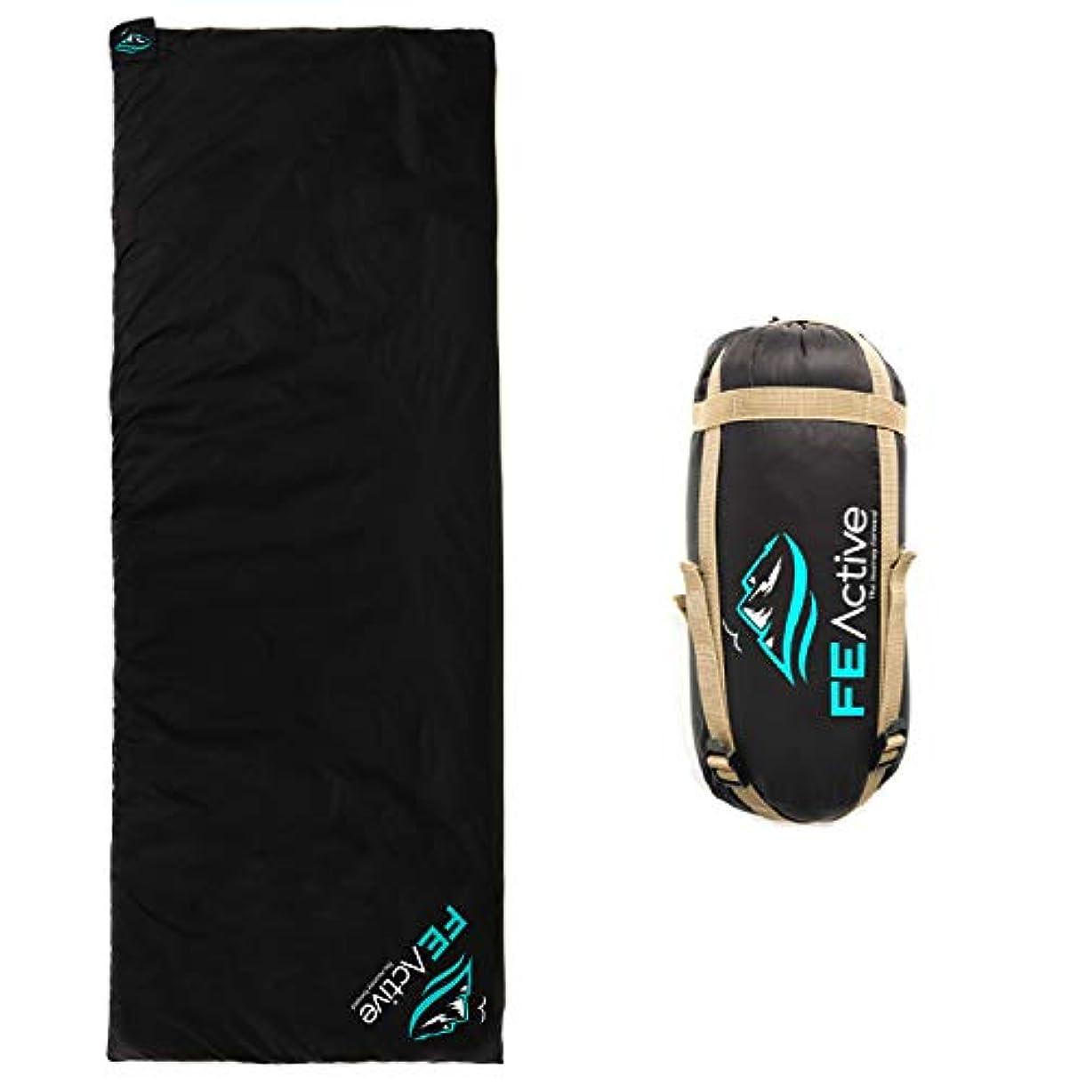 エイリアスシミュレートする電極FE Active -キャンプ用スリーピングバッグ 寝袋 超軽量 防水性 コンパクトスリーピングバッグ、アウトドア?キャンプ?バックパッキング?ハイキング?トレッキング用 | デザイン:アメリカ?カリフォルニア