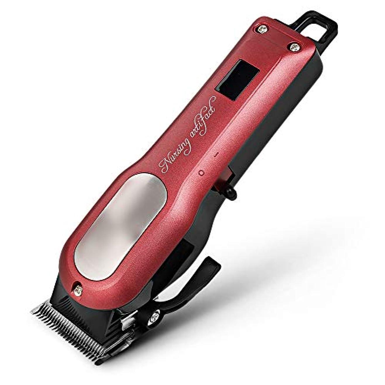 見つける罰する肖像画WAKABAFK プロフェッショナル充電式電動バリカンデジタルヘア髭剃り剃刀トリマーメンズコードレス散髪機