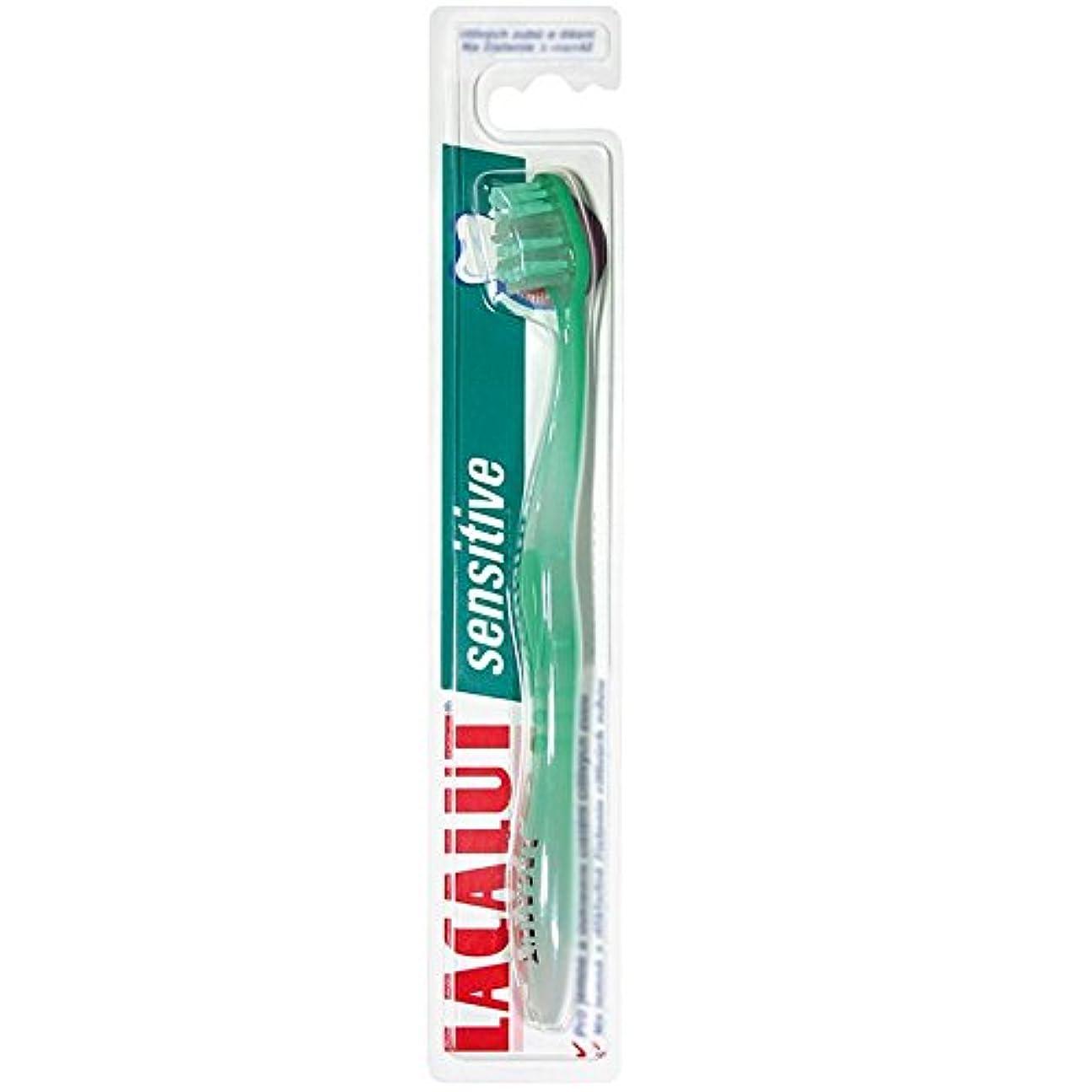 密度散る午後6本セット Lacalut sensitive toothbrush 歯ブラシ 敏感な歯用【並行輸入品】