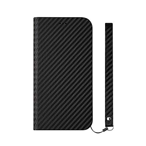 iPhone XR [FlipNote Slim] フリップノートケース カーボンブラック Simplism TR-IP18M-FNS-CBK