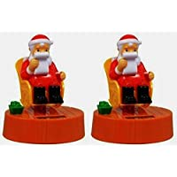 Solar-Powered Rocking Chair Santa Claus, 2-pk by Christmas House [並行輸入品]
