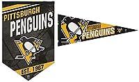 WinCraft NHL ピッツバーグ ペンギン プレミアムフェルトバナー 17インチx26インチ ペナント 12インチx30インチ 2個セット