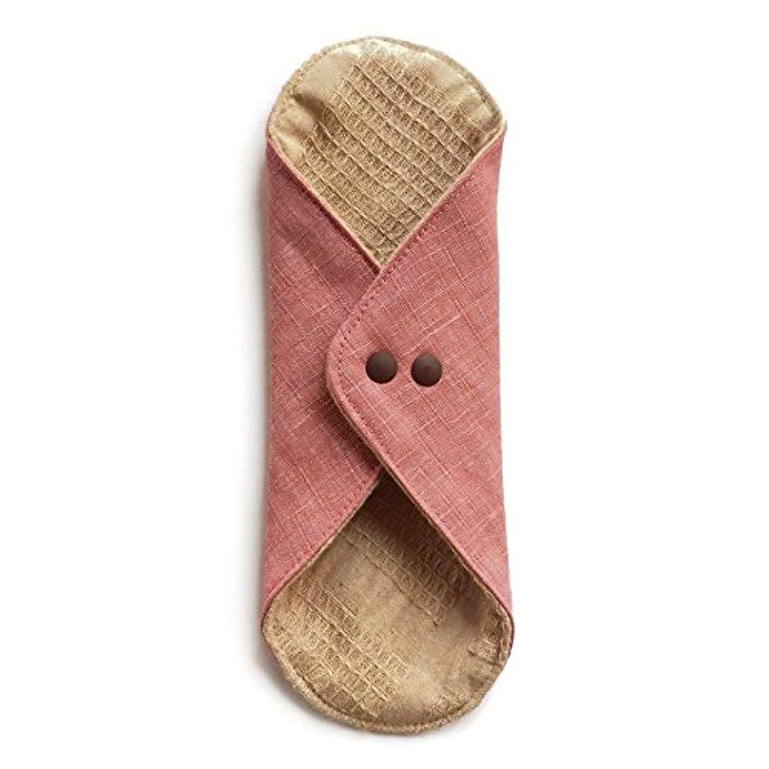 強大な手伝うかすかな華布のオーガニックコットンのあたため布 Lサイズ (約18×約20.5×約0.5cm) 彩り(桃)