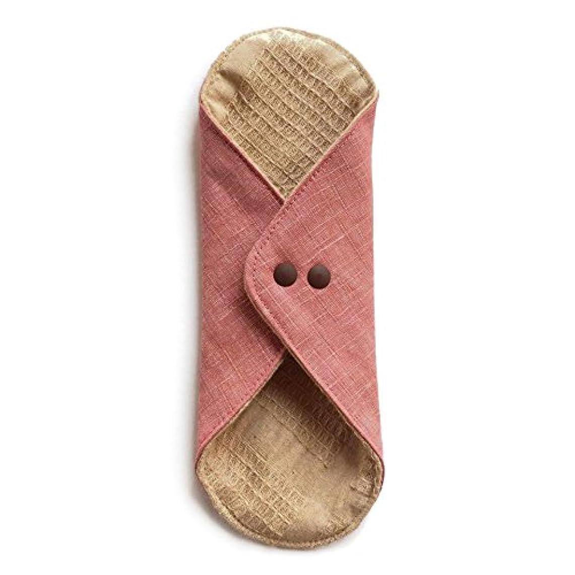 ソーダ水広まったうねる華布のオーガニックコットンのあたため布 Lサイズ (約18×約20.5×約0.5cm) 彩り(桃)