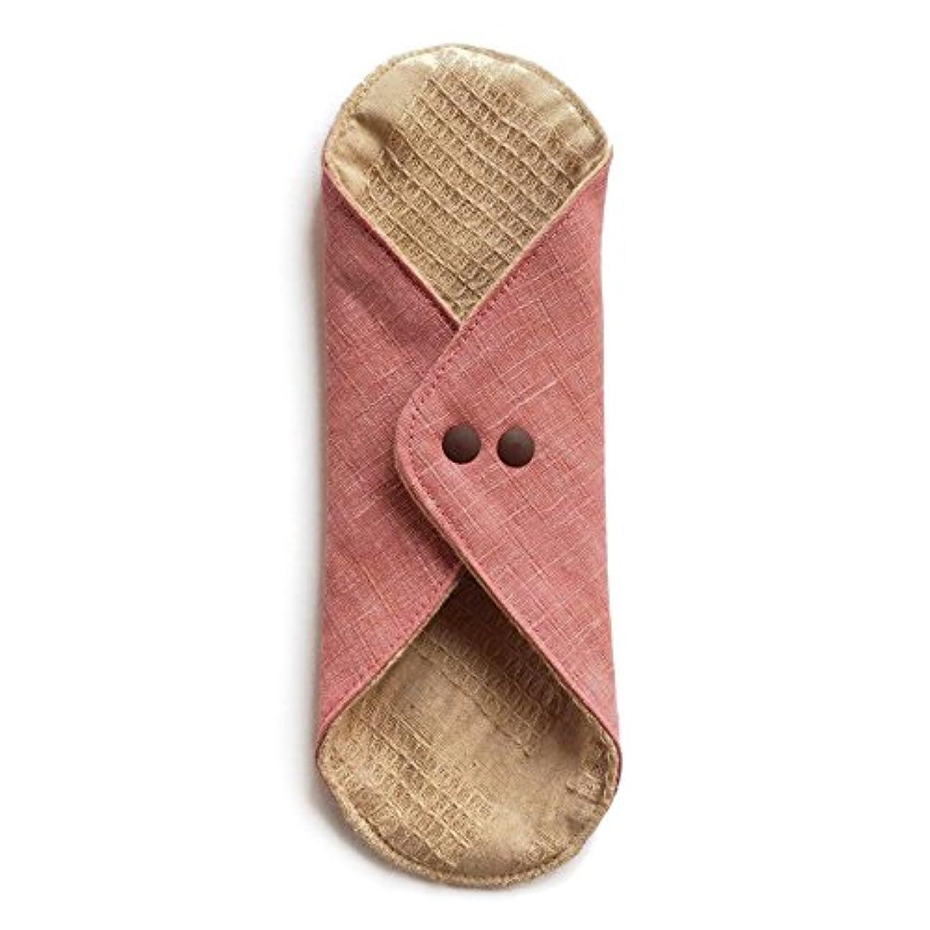 間に合わせ小康パース華布のオーガニックコットンのあたため布 Lサイズ (約18×約20.5×約0.5cm) 彩り(桃)