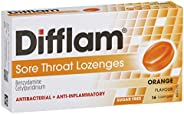 Difflam Difflam Sore Throat Lozenges, Orange, 16 count