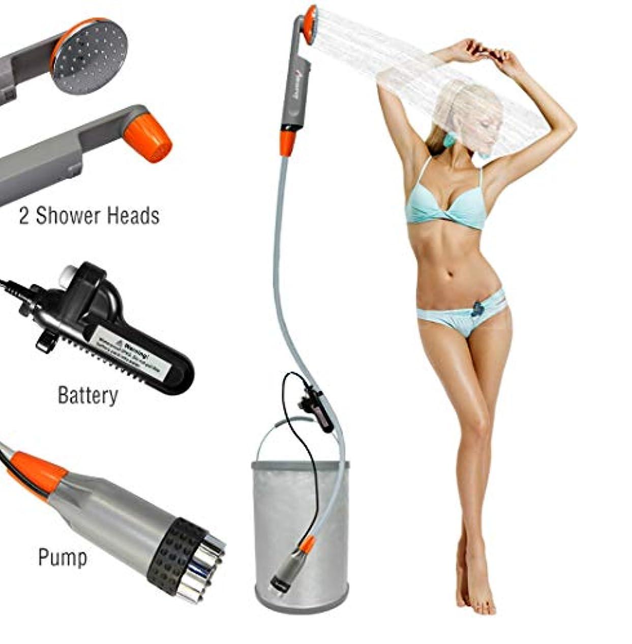 とは異なり緊急比べるLUOOV [アップグレード] ポータブル キャンプ シャワー コンパクト シャワー ポンプ デュアル 取り外し可能 USB 充電式 バッテリー ハンドヘルド アウトドア シャワー ヘッド キャンプ ハイキング 旅行 使用 ポータブル シャワー