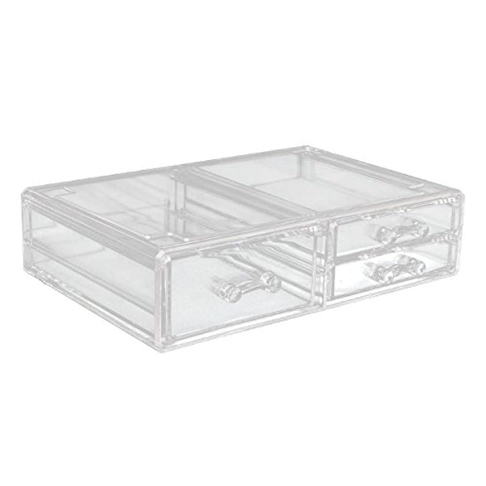 図じゃがいも彫刻家アクリルケース 収納ケース 深型引き出し×1 小引き出し×2 Lサイズ コスメボックス ディスプレイ_87260