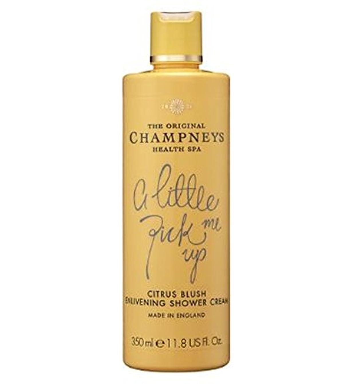 時折ゆり効率チャンプニーズシトラス赤面盛り上げシャワークリーム350ミリリットル (Champneys) (x2) - Champneys Citrus Blush Enlivening Shower Cream 350ml (Pack...