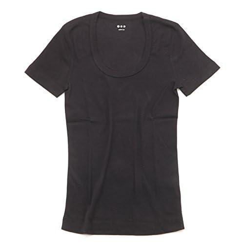 Three Dots / スリードッツ カジュアル ショートスリーブ Uネック Tシャツ(サイズ:M、、カラー:Black)