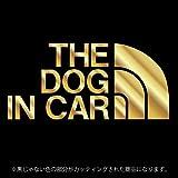 THE DOG IN CAR(ドッグインカー)【ステッカー カッティングシート】パロディ シール(12色から選べます) (ゴールド)