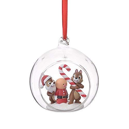 チップ&デール オーナメント クリスマスツリー ツリー 飾り ディズニー ディズニーストア グッズ (ガラスボウル)