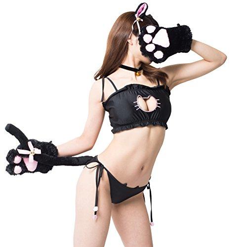 超オトクな7点セット&サイズも豊富 猫 コスプレ フルセットでご主人や彼氏をメロメロに U&Y (XL, 黒猫)