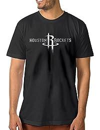 【エクセル】ヒューストン?ロケッツ プラチナ ロゴ 大きいサイズ Tシャツ 男の子 半袖 カジュアル スポーツウェア クルーネック