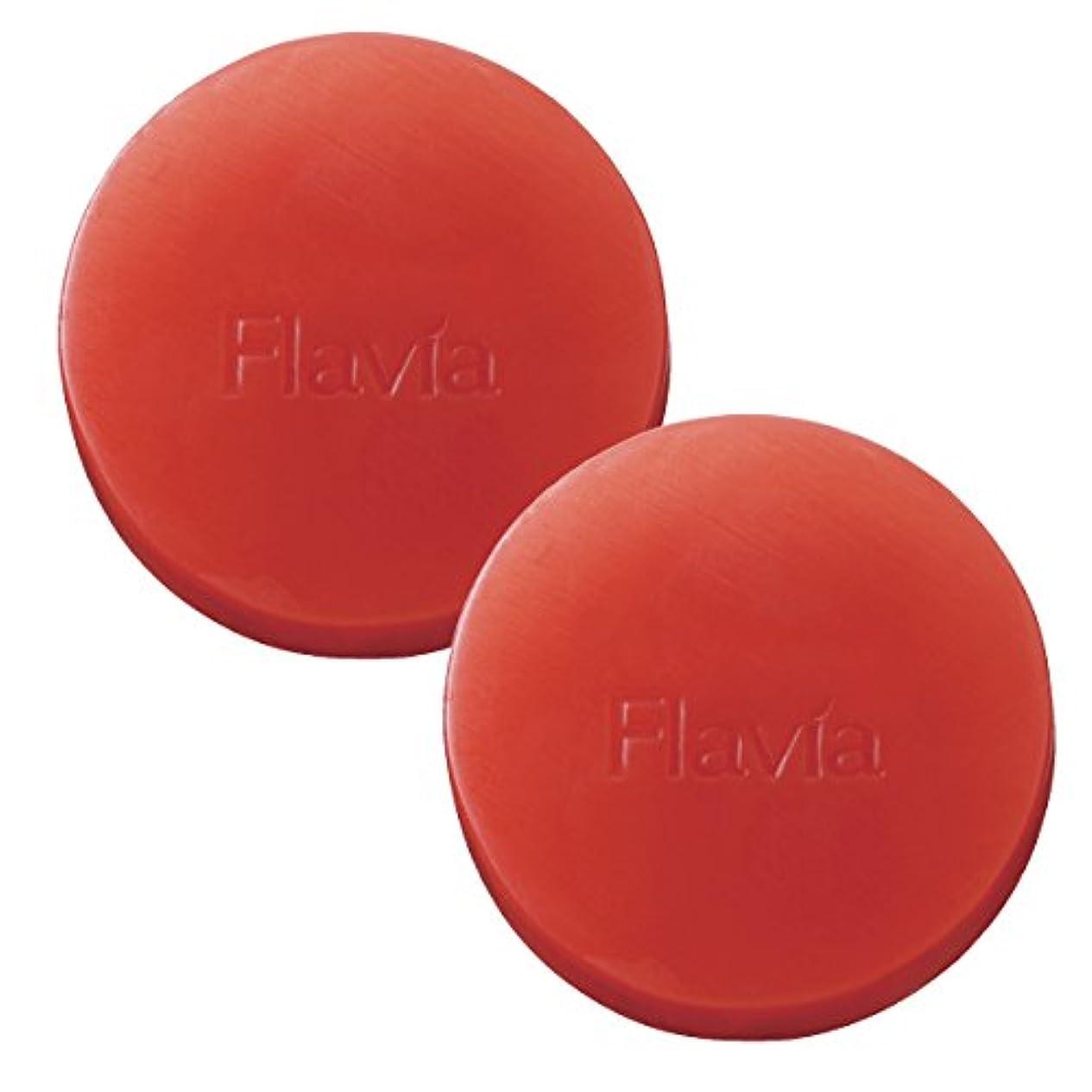 ネットミキサー血色の良いフォーマルクライン 薬用 フラビア ソープ 朝用 2個セット 洗顔 石けん