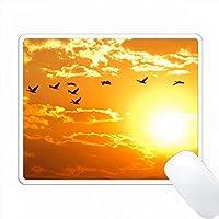 アメリカ、アイダホ州、ボイジーで日の出をして、ガチョウの群れが飛ぶ。 PC Mouse Pad パソコン マウスパッド