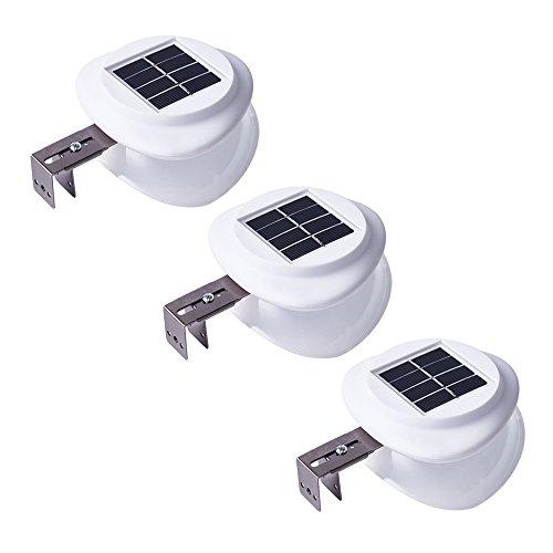 Sourcingbay LEDソーラーライト ウォール型 防水IP55 屋外 庭園ランプ ネジ掛け式(クールホワイト) (3, ABS アクリル)