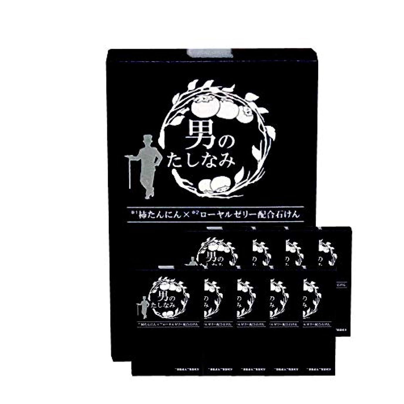 彫刻家添付クラッシュ柿渋石鹸 男のたしなみ 100g (10個セット)