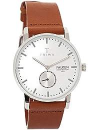 [トリワ]TRIWA メンズ レディース ユニセックス ファルケン スモセコ ブラウン レザー シルバー FAST103-CL010212 腕時計 [並行輸入品]
