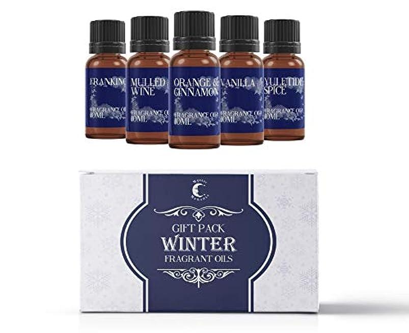 風が強い脅かすブルゴーニュMystic Moments   Fragrant Oil Starter Pack - Winter Oils - 5 x 10ml
