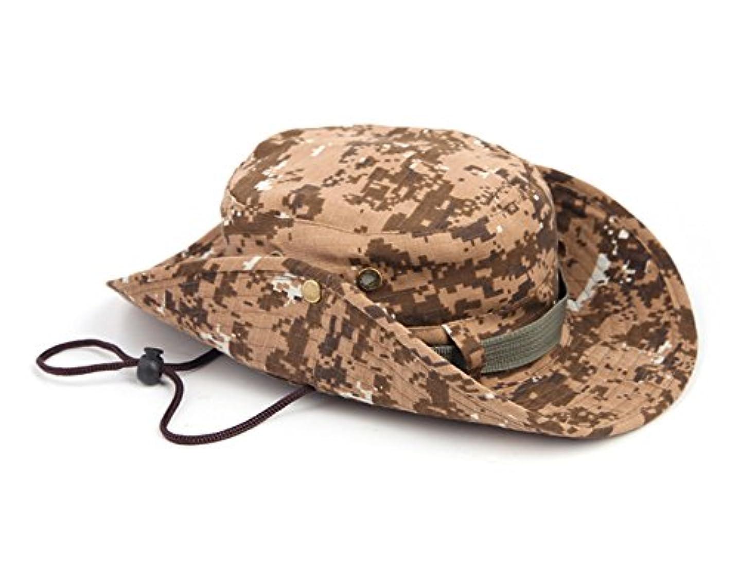 応用追加アクセルSurborder Shop スポーツスタイル デジタル ミリタリー 迷彩 アウトドア 帽子 ハンティング 釣り メッシュ生地 - 日焼け防止 - 釣りやハイキング用日よけ帽