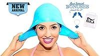 Kula Silicone Swim Capショート、ロングヘア–防水水泳キャップ耳保護プラグ鼻クリップ、耳付き大人用メンズレディースガールズボーイズキッズ–Keepsヘアを清潔と耳に乾燥