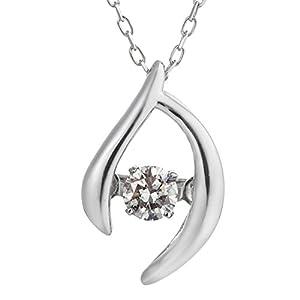 [ダンシングストーン] Dancing Stone K10ホワイトゴールド天然ダイヤモンドネックレス D10-0003D-W