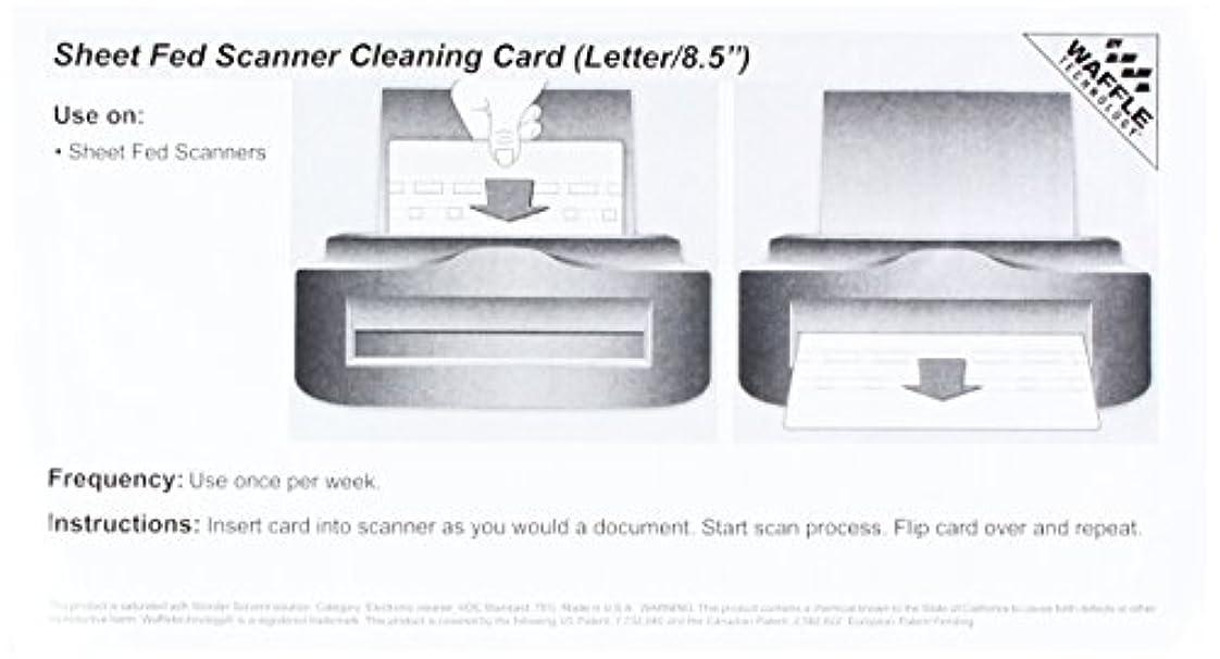 識字四ボアシートFedスキャナクリーニングカードfeaturing Waffletechnology (1 ) (kw3-sfs1b1ws)