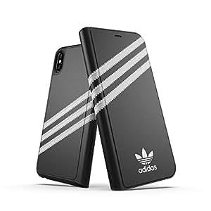 【アディダス公式ライセンスショップ】アディダスオリジナルス iPhone XS Max 手帳型ケース SAMBA (サンバ) ブラック [adidas Originals Booklet Case for iPhone XS Max FW18 black/white SAMBA]