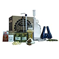 1 Gallon Small Batch Beer Home Brewing Starter Kit with Caribou Slobber Brown Ale Beer Recipe Kit by Brewery in a Box