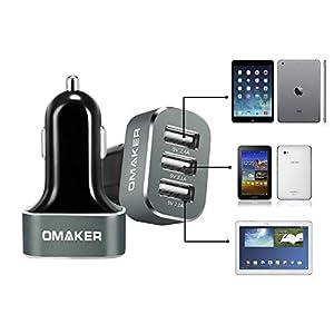 Omaker カーチャージャー 3USBポート33W/6.6A(2.4A 2.1A 2.1A) USB急速充電器 サビイロ