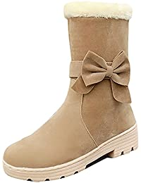 UBELLA スノーブーツ 女の子 長靴 キッズ リボン付き 可愛い 防寒 保温 通学 お出かけ