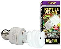 Exo Terra Reptile Vision Compact Fluorescent Lamp, 13-watt by Exo Terra