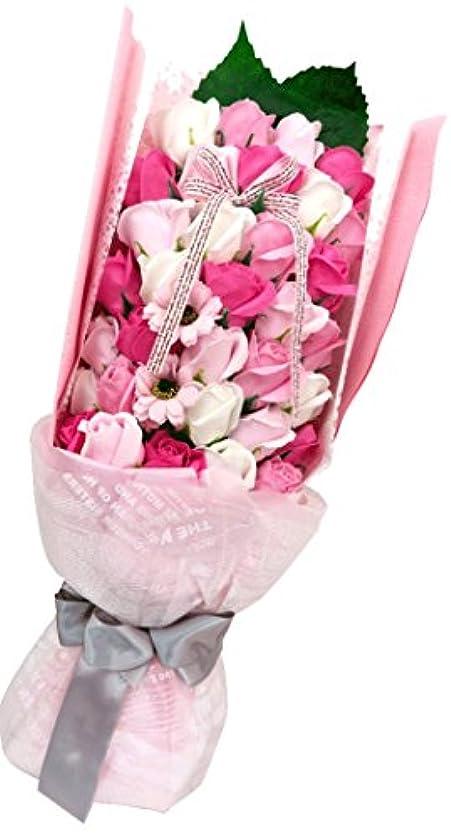 スカーフ襟対抗やさしく香る バスフレグランスブーケ 誕生日 歓送迎 結婚式 記念日に (ピンク)