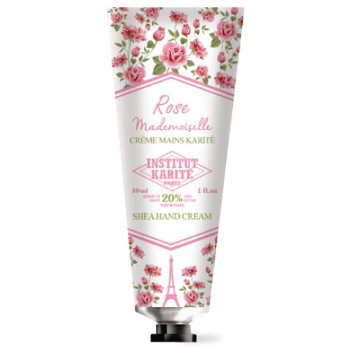 運搬ハンカチばかINSTITUT KARITE カリテ Rose Mademoiselle クラシックローズ ハンドクリーム 30ml