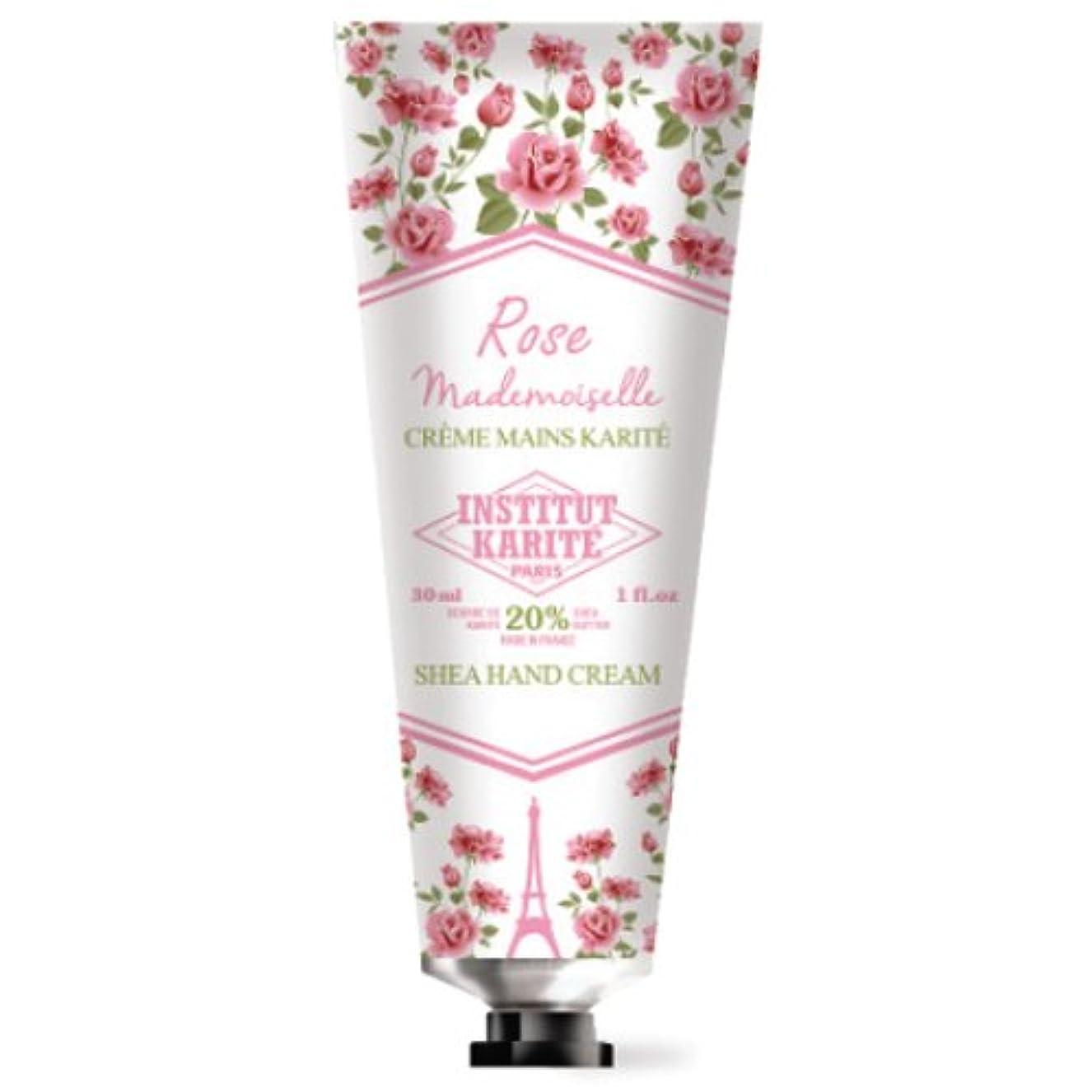 裏切り者担保洪水INSTITUT KARITE カリテ Rose Mademoiselle クラシックローズ ハンドクリーム 30ml